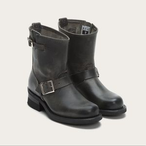 Frye genuine leather biker moto boots